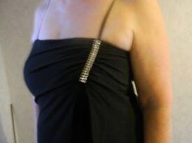 Ladies Long Black Evening Dressy Roman Originals