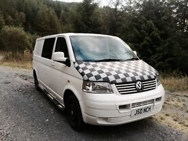 VW T5 Volkswagen Transporter 6 seater Kombi conversion. NO VAT