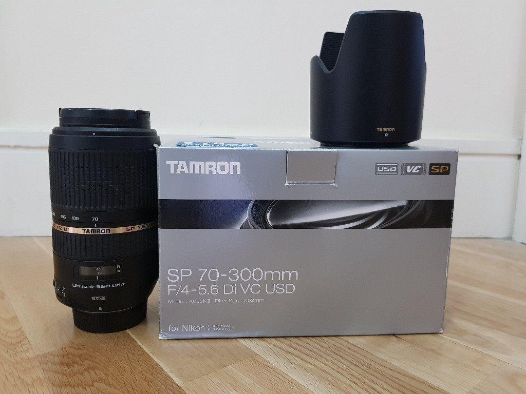 Tamron Sp Af 70 300 F 4 56 Di Vc Usd Lens For Nikon Mint 300mm F4