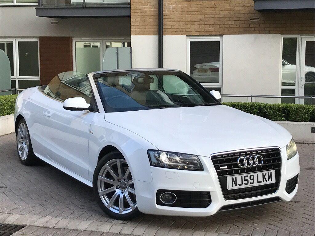 AUDI A CONVERTIBLE TDI S LINE QUATTRO WHITE AUTO FULL AUDI - Audi a5 white
