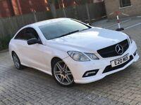 MERCEDES BENZ E350 E CLASS 3.0 CDI B/E SPORT DIESEL AUTOMATIC WHITE 4 SEAT GREAT DRIVE N A5 SERIES