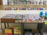 JOB LOT 1200 CDs, also DVDs, vinyl records, racking (contents of stall; joblot, business stock)