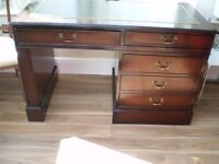 Leather topped computer desk 150.00