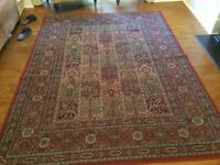 Rug 230 x 170cm - great condition in deep red and gold colours