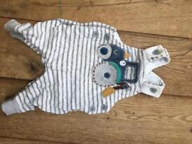 Next dungarees with tractor decoration up to 1month