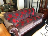 Leather and fabric suite