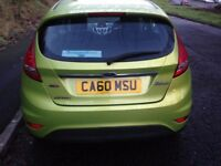 2011 Ford Fiesta 1.4TDCi Zetec 5 Door Metallic Green done 124,000 miles only £20 Tax Priced to Sell