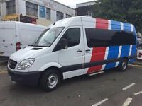 2011 SPRINTER BUS. DIESEL. DRIVER OPERATED SLIDING DOOR.NEW MOT. 9 SEATS.RECENTLY SERVICED.NO VAT.