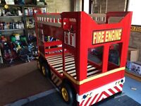 Bunk bed with Fire engine theme