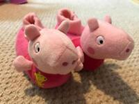 Peppa Pig Slippers - Size 7 infant