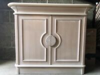 Sideboard Cabinet Cupboard Solid, Heavy Chabby Chic Village Furniture