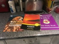 3 text books for GCSE,s