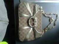 Rare !Gucci monogram jewelled dragon hand bag