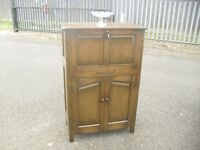 Quality Oak Webber Of Croydon Cocktail Home Bar Storage Cupboard