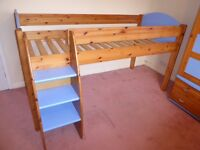Stompa Rondo mid sleeper bed with matching wardrobe and 2 cupboards. FREE LOCAL DELIVERY.