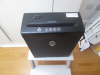 Domestic office SHREDDER, double criss-cross function, in West London