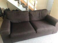 Brown sofa good condition FREE TO TAKE
