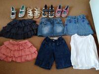 Girls footwear size 9+10 clothing next 3-4yrs ml5