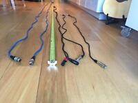 XLR speaker cables 10m x 2   1.5m x 2   xlr to audio 3m