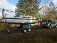 20 ft vivacity yacht on McGregor trailer