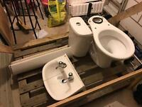 Bathroom suite - white