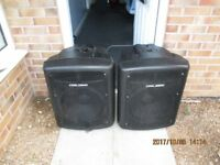 "Pair Carlsbro Gamma 15""/600W Passive Subwoofer sub bass bins"