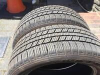 Two 195 55 16 winter tyres