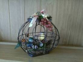Lovely detail ornamental bird in cage