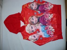 Disney Princess Frozen Elsa and Anna red hoodie/ jacket size M (5-6 years). BNWT. Christmas..