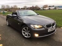 BMW 330D SE 3.0 DIESEL AUTOMATIC CONVERTIBLE 2008 1 OWNER SATNAV HEATED LEATHERS FULL BMW HISTORY