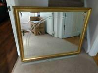 Large ornate framed mirror
