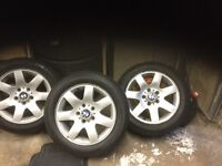 BMW wheels 205x16 tyre & wheels like new