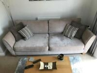 4 Seater Full Back Sofa, Foam Seat and Matching Arm Chair (Sofology)