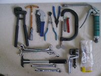 Selection of garage tools