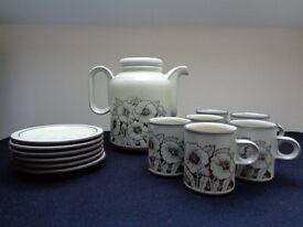 Retro Vintage Hornsea Cornrose 13 Piece Coffee Set