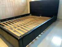 IKEA Divan bed (black leather)