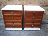 Pair of medium sized chest of 4 draws