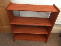 Mahogany stained Book Shelves