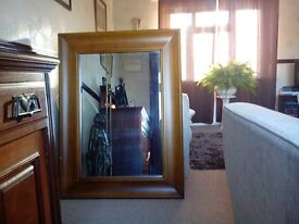 Large mirror solid wood frame