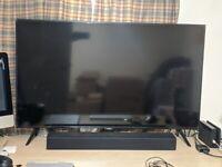 43 Inch Samsung Smart TV - 4K HDR LED Display + Samsung Soundbar (WARRANTY INCLUDED!)