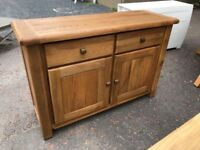 New/Ex-display Solid oak large sideboard - delivery available