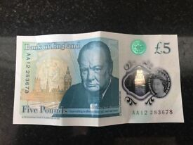 Five pound Note AA12