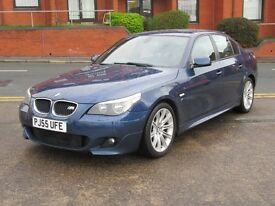 55 BMW 520d M SPORT + NEW SHAPE + LEATHER + FSH