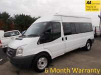 Ford transit 2.4 tdci 115 lwb 15 seat m/roof