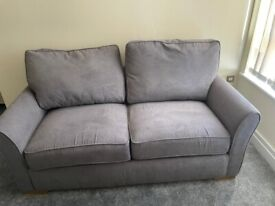 Jasmine 3 Seater Sofa Bed with Deluxe Matress in Cosmo Pewter with Bamboo Slate Scatters