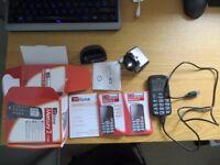 TT fone Mercury 2 - TT200 - black - new in box - sim and network free