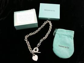 Tiffany silver choker necklace