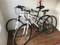Carrera hybrid bikes bicycles his and hers