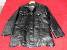 Ladies Italian Fashion Leather Jacket Large