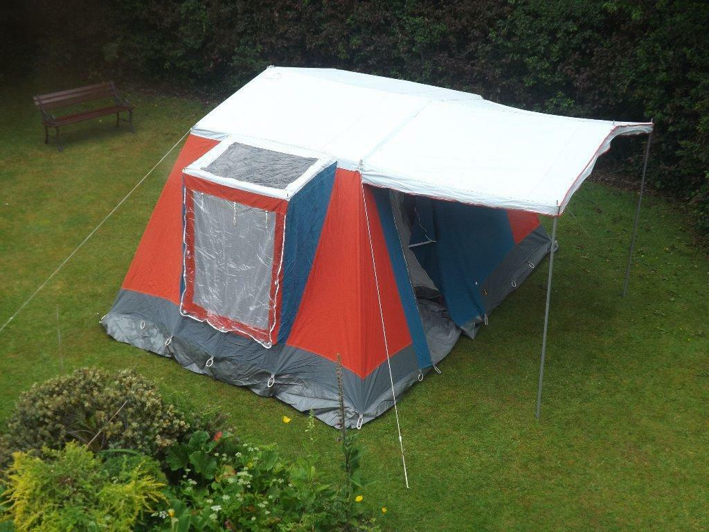 Canvas frame tent sleeps 4 adults in macclesfield for How to build a canvas tent frame
